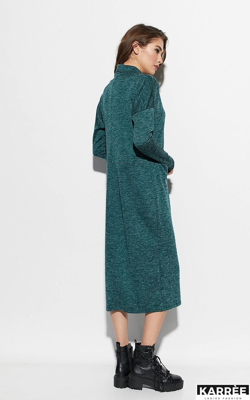 Платье Эрика, Темно-зеленый - фото 4