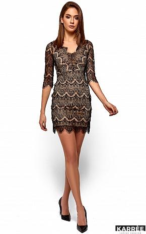 Платье Янина, Черный - фото 2