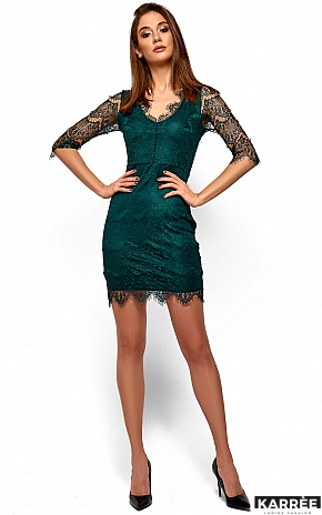 Платье Янина, Темно-зеленый - фото 4