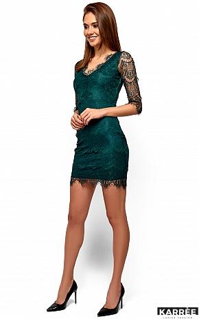 Платье Янина, Темно-зеленый - фото 5