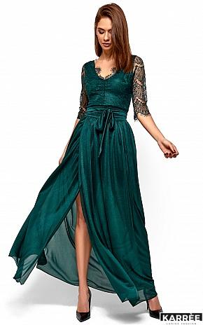 Платье Янина, Темно-зеленый - фото 2