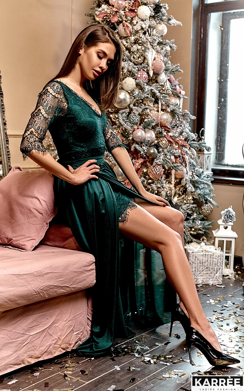 Платье Янина, Темно-зеленый - фото 1