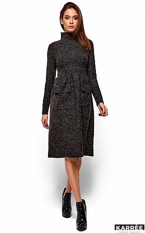 Платье Алина, Темно-серый - фото 2