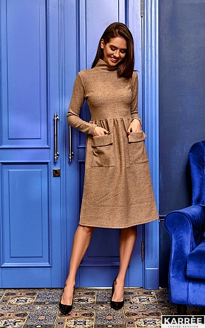 Платье Алина, Бежевый - фото 1