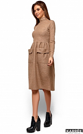 Платье Алина, Бежевый - фото 3