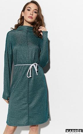 Платье Алиса, Темно-зеленый - фото 2