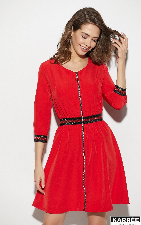 Платье Инфинити, Красный - фото 2