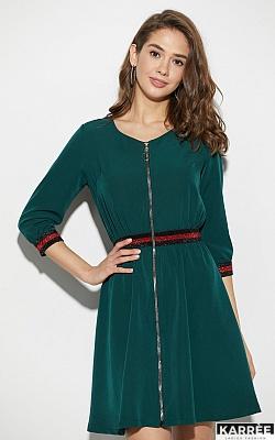 Платье Инфинити, Темно-зеленый