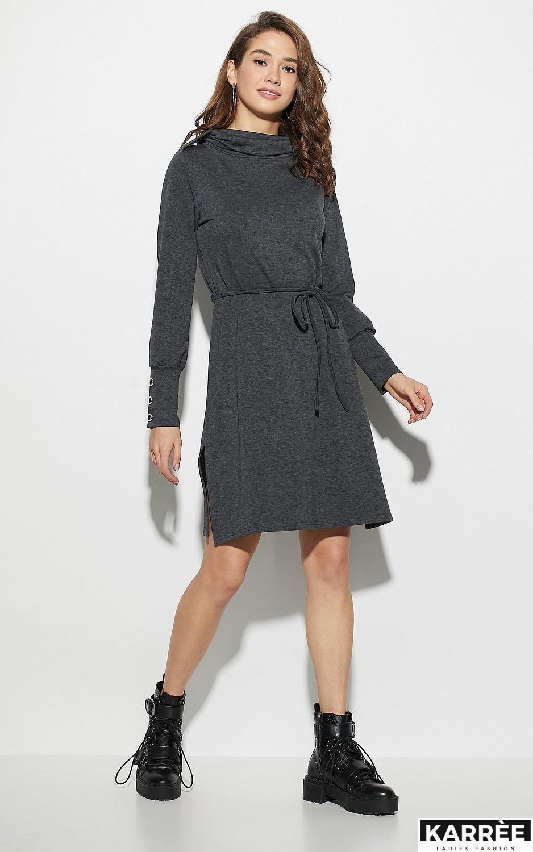 Платье Милтон, Темно-серый - фото 1