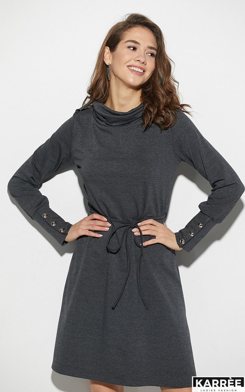 Платье Милтон, Темно-серый - фото 2
