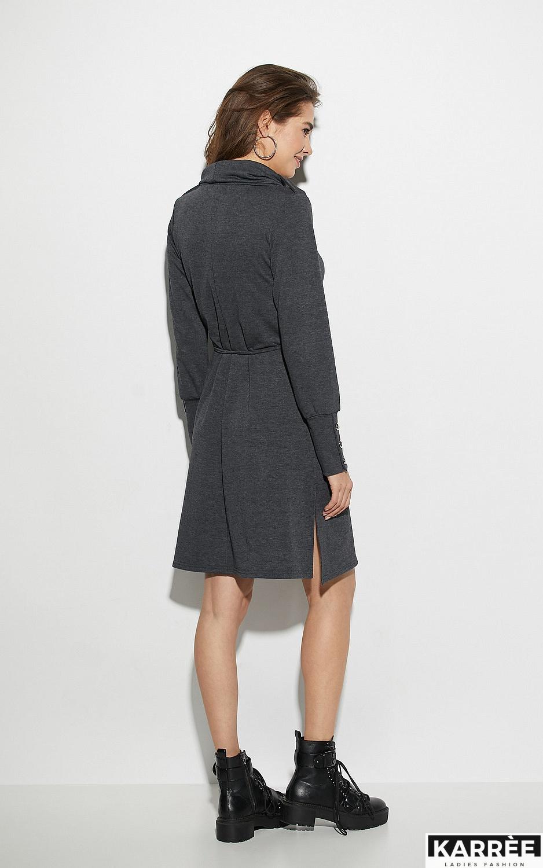 Платье Милтон, Темно-серый - фото 3
