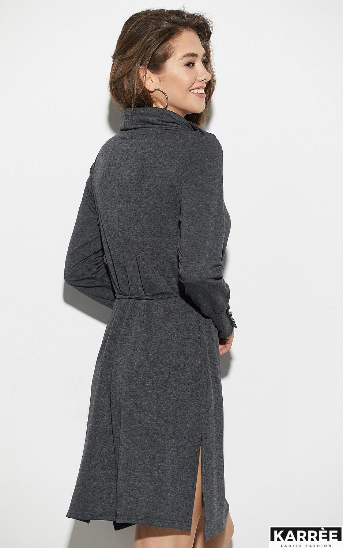 Платье Милтон, Темно-серый - фото 4