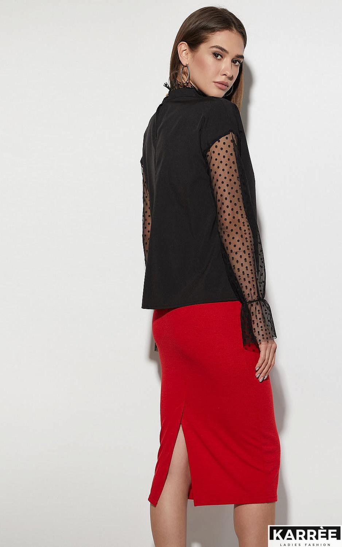 Блуза Феникс, Черный - фото 3