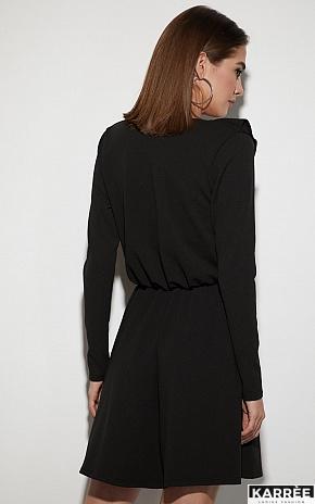 Платье Лотус, Черный - фото 3
