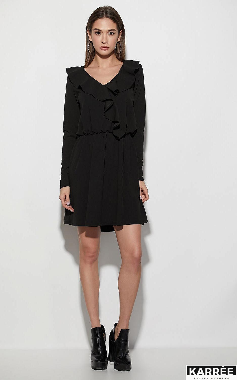 Платье Лотус, Черный - фото 1