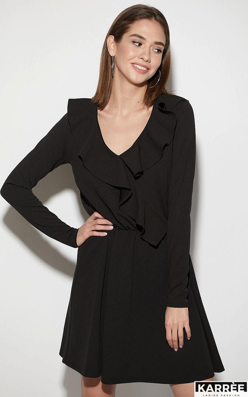 Платье Лотус, Черный - фото 2