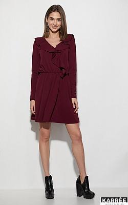 Платье Лотус, Бордо