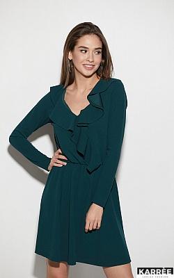 Платье Лотус, Темно-зеленый