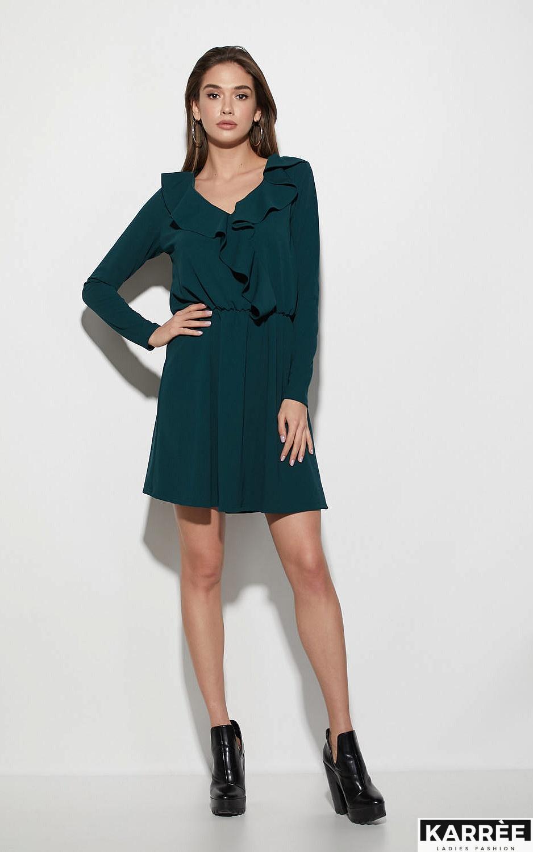 Платье Лотус, Темно-зеленый - фото 1