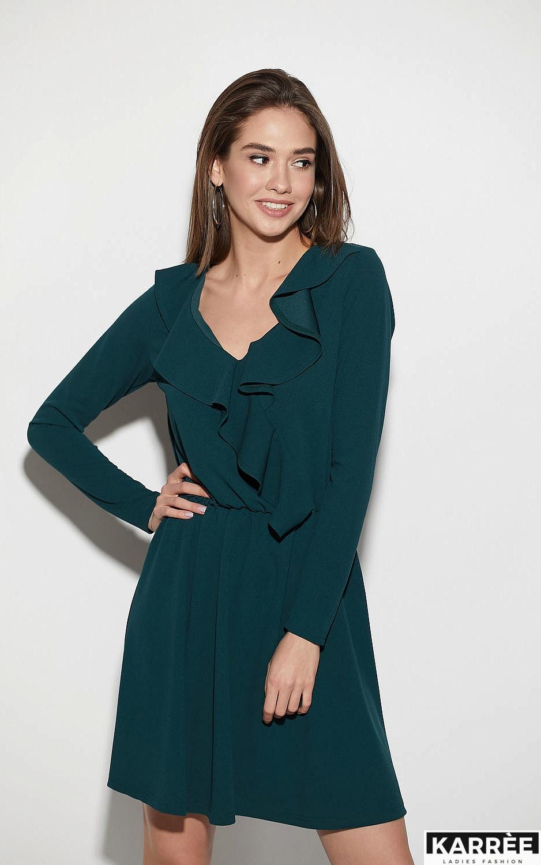 Платье Лотус, Темно-зеленый - фото 2