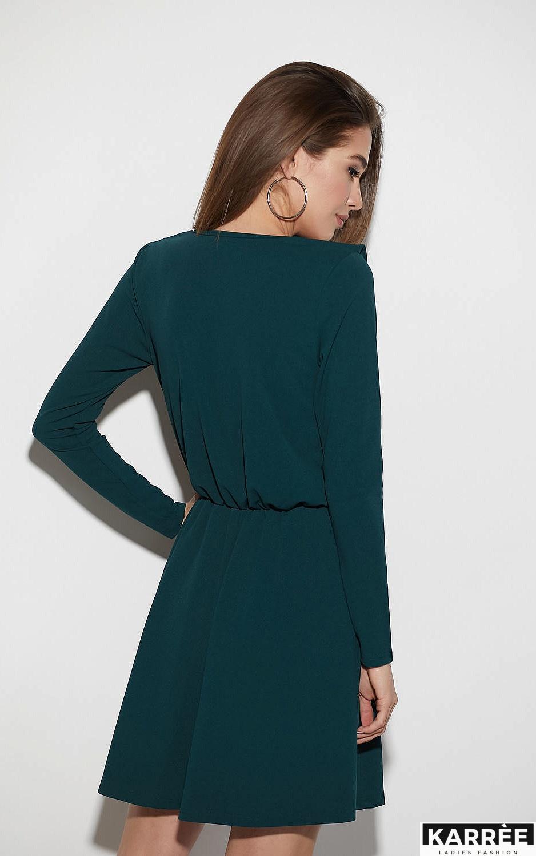 Платье Лотус, Темно-зеленый - фото 3