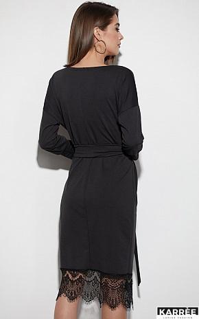 Платье Карина, Черный - фото 3