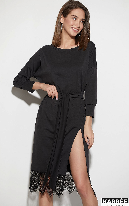 Платье Карина, Черный - фото 2