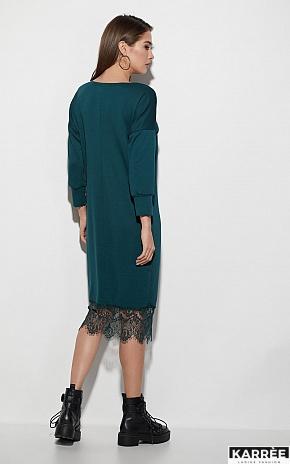Платье Карина, Темно-зеленый - фото 3