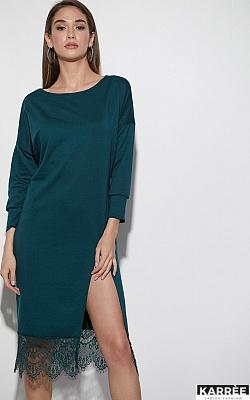 Платье Карина, Темно-зеленый