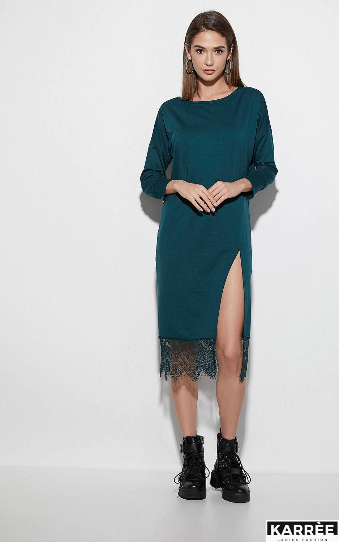 Платье Карина, Темно-зеленый - фото 1