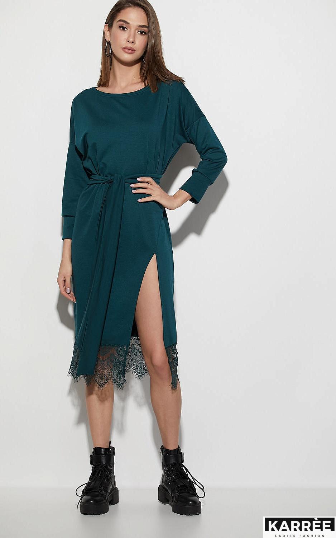 Платье Карина, Темно-зеленый - фото 4