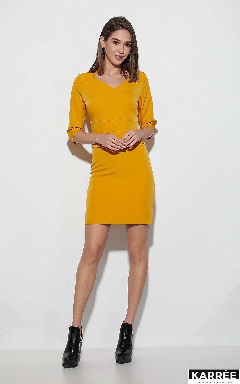 Платье Кайли, Горчичный - фото 2
