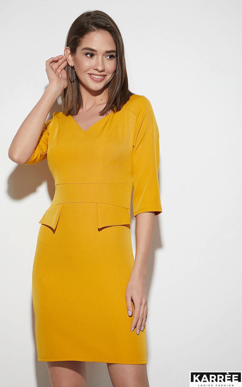 Платье Кайли, Горчичный - фото 3