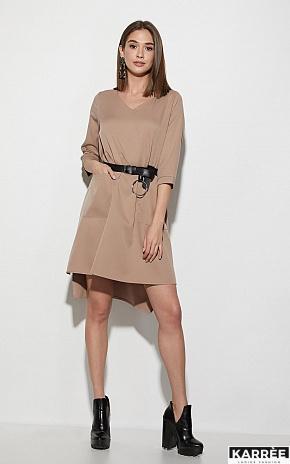 Платье Брюссель, Темно-бежевый - фото 1