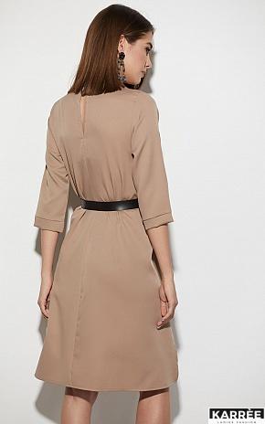 Платье Брюссель, Темно-бежевый - фото 3