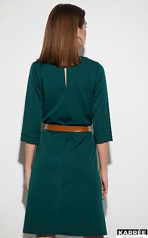 Платье Брюссель, Темно-зеленый - фото 4