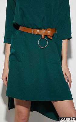 Платье Брюссель, Темно-зеленый