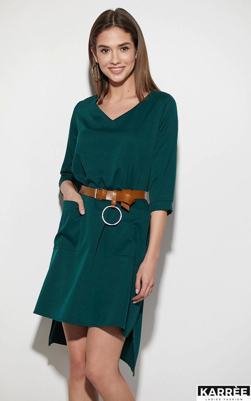 Платье Брюссель, Темно-зеленый - фото 3