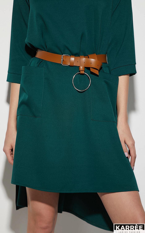 Платье Брюссель, Темно-зеленый - фото 2