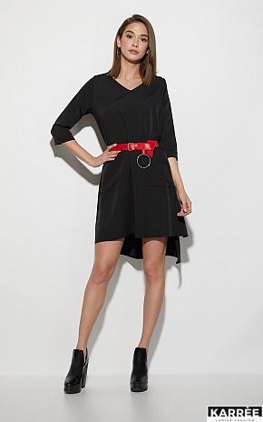 Платье Брюссель, Черный - фото 1