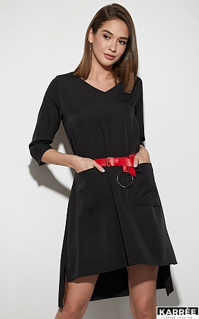 Платье Брюссель, Черный - фото 2