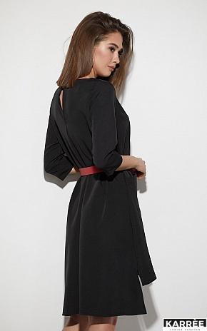 Платье Брюссель, Черный - фото 3