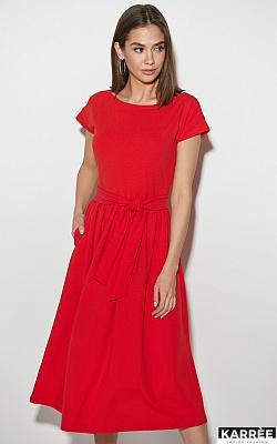 Платье Ментон, Красный