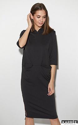 Платье Аванш, Черный