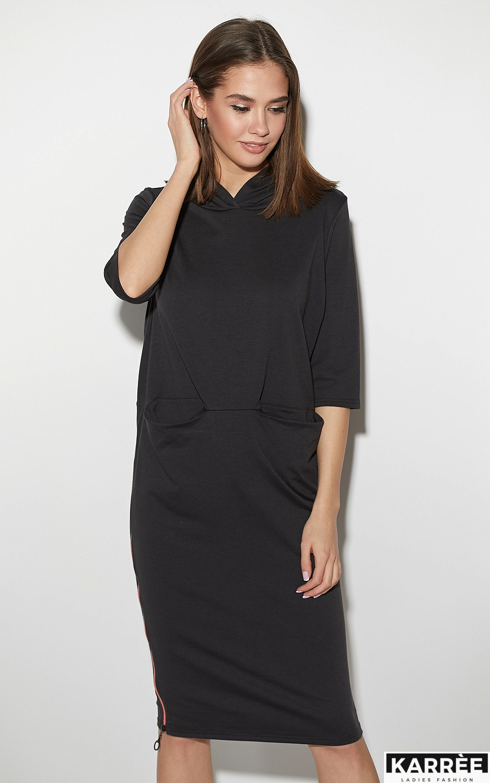 Платье Аванш, Черный - фото 2