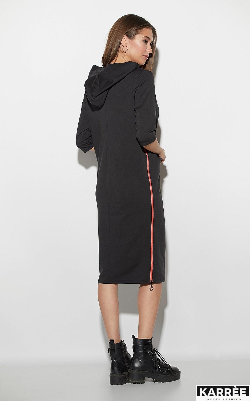 Платье Аванш, Черный - фото 3