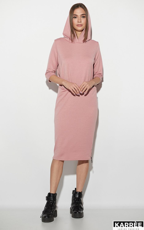 Платье Аванш, Пыльно-розовый - фото 3