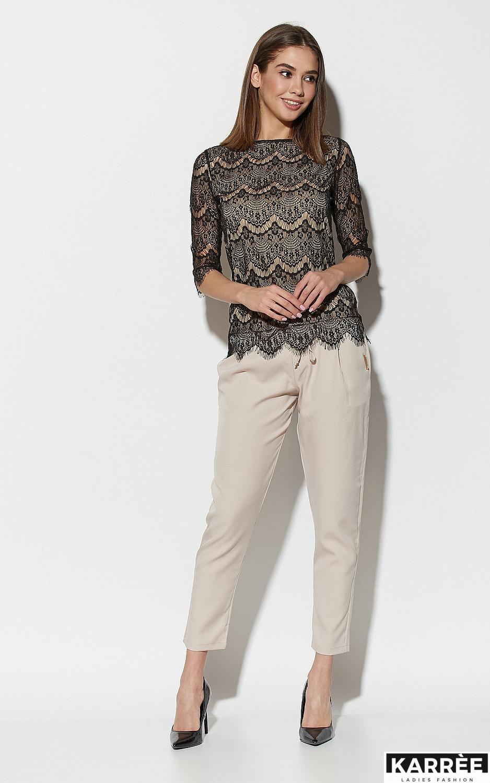 Блуза Зоуи, Черный - фото 2