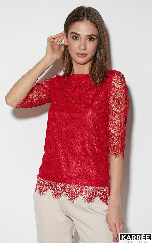 Блуза Зоуи, Красный - фото 4
