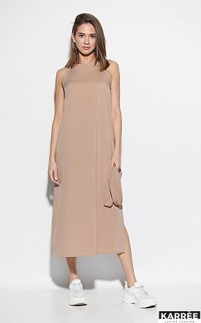 Платье Алиот, Темно-бежевый - фото 5